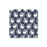 Geometric Deer Retro Pattern Square Magnet Front