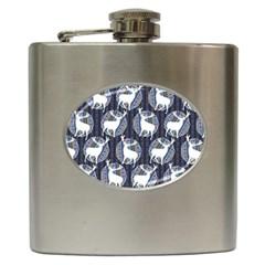 Geometric Deer Retro Pattern Hip Flask (6 oz)