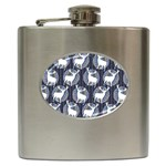 Geometric Deer Retro Pattern Hip Flask (6 oz) Front