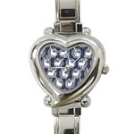 Geometric Deer Retro Pattern Heart Italian Charm Watch Front