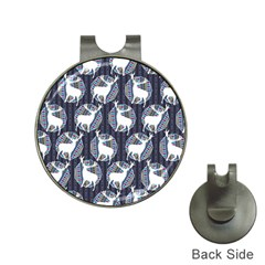 Geometric Deer Retro Pattern Hat Clips With Golf Markers