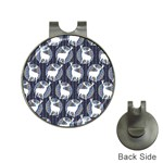 Geometric Deer Retro Pattern Hat Clips with Golf Markers Front