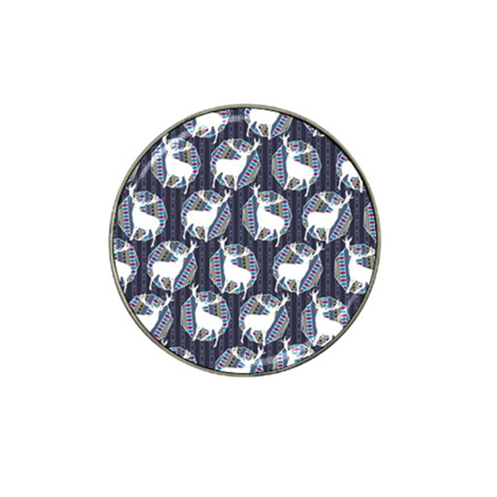 Geometric Deer Retro Pattern Hat Clip Ball Marker