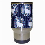 Geometric Deer Retro Pattern Travel Mugs (White) Center