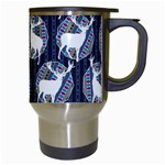 Geometric Deer Retro Pattern Travel Mugs (White) Right