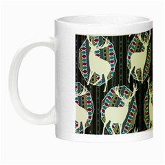 Geometric Deer Retro Pattern Night Luminous Mugs
