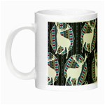 Geometric Deer Retro Pattern Night Luminous Mugs Left