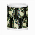 Geometric Deer Retro Pattern Night Luminous Mugs Center