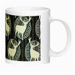 Geometric Deer Retro Pattern Night Luminous Mugs Right