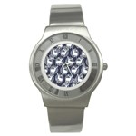 Geometric Deer Retro Pattern Stainless Steel Watch Front