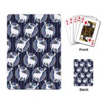 Geometric Deer Retro Pattern Playing Card Back