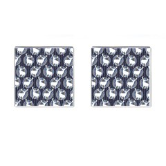 Geometric Deer Retro Pattern Cufflinks (Square)