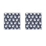 Geometric Deer Retro Pattern Cufflinks (Square) Front