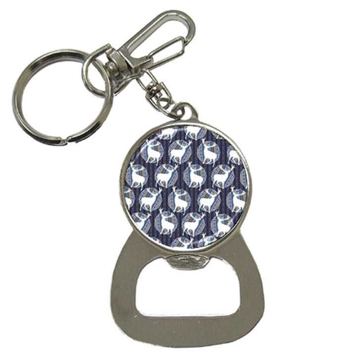 Geometric Deer Retro Pattern Bottle Opener Key Chains