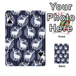 Geometric Deer Retro Pattern Playing Cards 54 Designs  Front - SpadeA