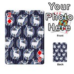 Geometric Deer Retro Pattern Playing Cards 54 Designs  Front - Diamond2