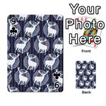 Geometric Deer Retro Pattern Playing Cards 54 Designs  Front - Club9