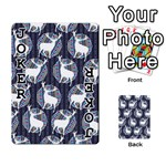 Geometric Deer Retro Pattern Playing Cards 54 Designs  Front - Joker1