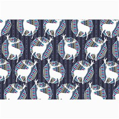 Geometric Deer Retro Pattern Collage Prints