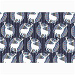 Geometric Deer Retro Pattern Collage Prints 18 x12 Print - 2