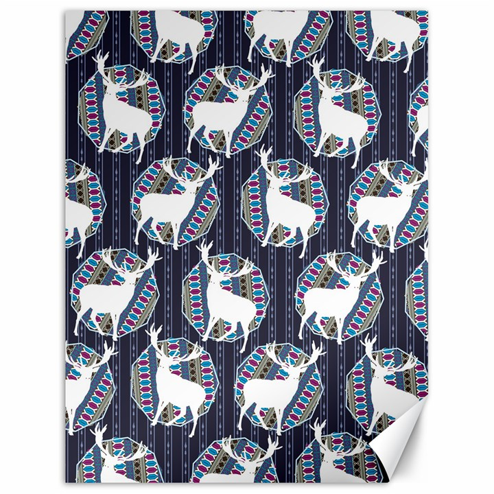 Geometric Deer Retro Pattern Canvas 18  x 24