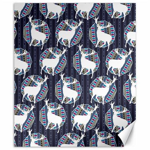 Geometric Deer Retro Pattern Canvas 20  x 24