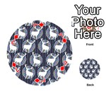 Geometric Deer Retro Pattern Playing Cards 54 (Round)  Front - Diamond7