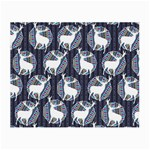 Geometric Deer Retro Pattern Small Glasses Cloth (2-Side) Front
