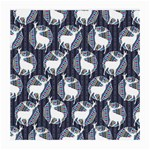 Geometric Deer Retro Pattern Medium Glasses Cloth Front