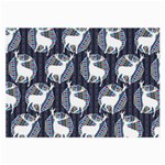 Geometric Deer Retro Pattern Large Glasses Cloth (2-Side) Back