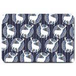 Geometric Deer Retro Pattern Large Doormat  30 x20 Door Mat - 1