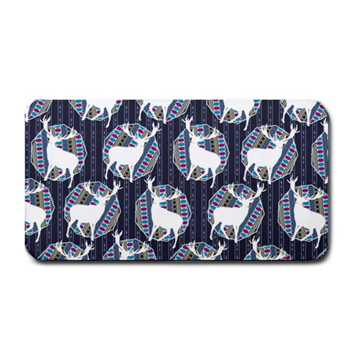 Geometric Deer Retro Pattern Medium Bar Mats