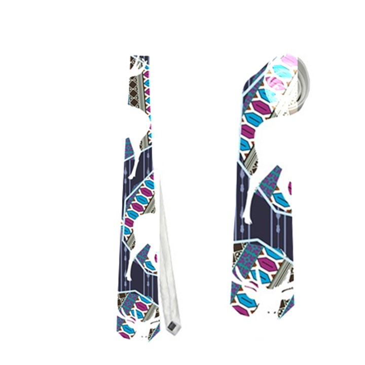 Geometric Deer Retro Pattern Neckties (Two Side)