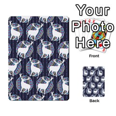 Geometric Deer Retro Pattern Multi Purpose Cards (rectangle)