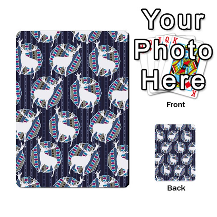 Geometric Deer Retro Pattern Multi-purpose Cards (Rectangle)