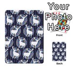 Geometric Deer Retro Pattern Multi-purpose Cards (Rectangle)  Back 16