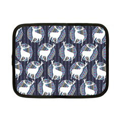 Geometric Deer Retro Pattern Netbook Case (small)