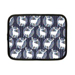 Geometric Deer Retro Pattern Netbook Case (Small)  Front