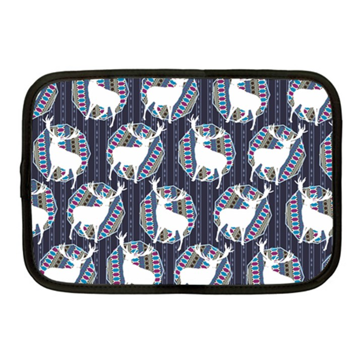 Geometric Deer Retro Pattern Netbook Case (Medium)