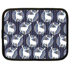 Geometric Deer Retro Pattern Netbook Case (Large)