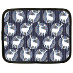 Geometric Deer Retro Pattern Netbook Case (Large) Front