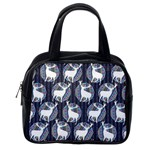 Geometric Deer Retro Pattern Classic Handbags (2 Sides) Back