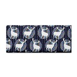 Geometric Deer Retro Pattern Hand Towel Front