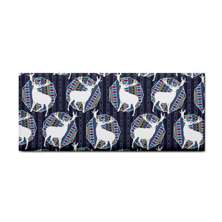 Geometric Deer Retro Pattern Hand Towel