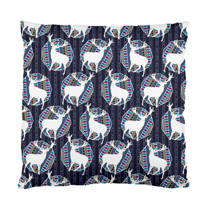 Geometric Deer Retro Pattern Standard Cushion Case (Two Sides)