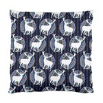 Geometric Deer Retro Pattern Standard Cushion Case (Two Sides) Back