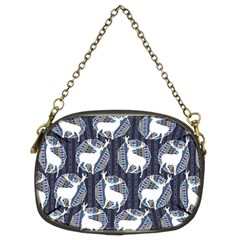 Geometric Deer Retro Pattern Chain Purses (two Sides)