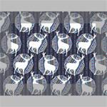 Geometric Deer Retro Pattern Mini Canvas 7  x 5  7  x 5  x 0.875  Stretched Canvas