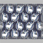 Geometric Deer Retro Pattern Canvas 14  x 11  14  x 11  x 0.875  Stretched Canvas
