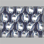 Geometric Deer Retro Pattern Canvas 18  x 12  18  x 12  x 0.875  Stretched Canvas
